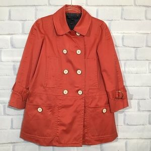 Marc by Marc Jacobs Red Trench Coat